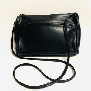 Coach vintage crossbody bag in black leather